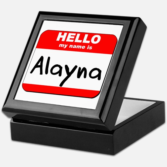 Hello my name is Alayna Keepsake Box