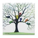 Eau Claire Whimsical Cats Tile Coaster