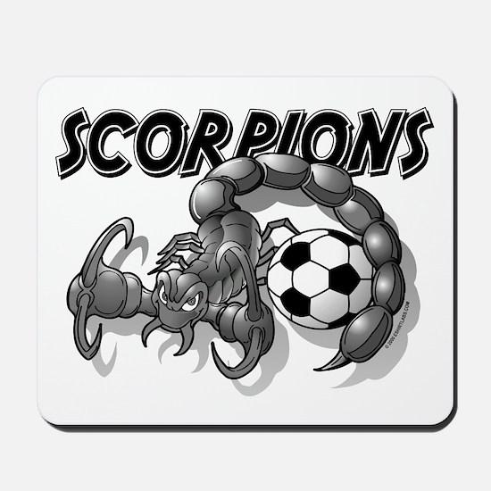 Black Scorpions Soccer Mousepad