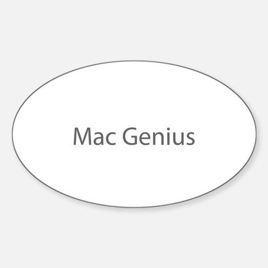 Mac Genius Oval Decal