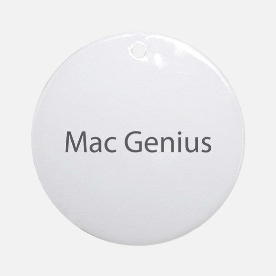 Mac Genius Ornament (Round)
