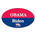 """""""Obama-Biden"""" Oval Sticker"""
