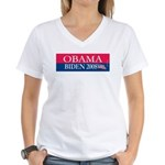 """Obama-Biden"" Women's V-Neck T"