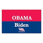 """""""Obama-Biden"""" Rect Sticker (10)"""