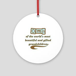 Oma of Gifted Grandchildren Ornament (Round)