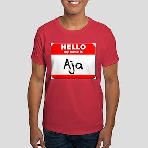 Hello my name is Aja Dark T-Shirt