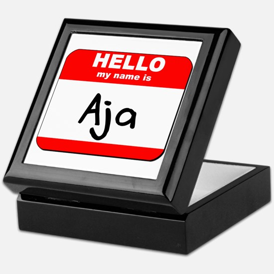 Hello my name is Aja Keepsake Box