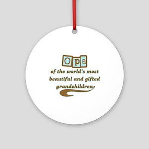 Opa of Gifted Grandchildren Ornament (Round)