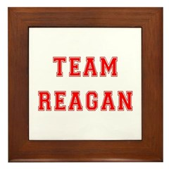 Team Reagan Framed Tile