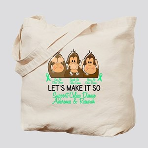 See Speak Hear No Celiac Disease 2 Tote Bag