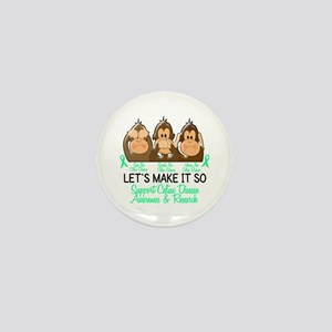 See Speak Hear No Celiac Disease 2 Mini Button