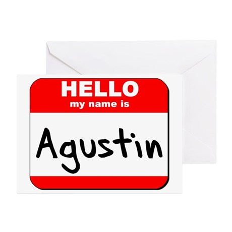 Hello my name is Agustin Greeting Cards (Pk of 20)