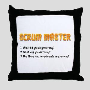 Scrum Master Sprint Questions Throw Pillow