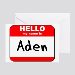 Hello my name is Aden Greeting Card