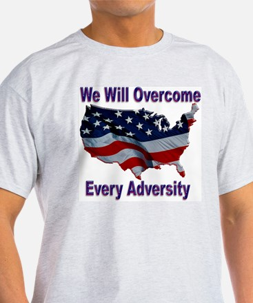 Overcome Adversity Ash Grey T-Shirt