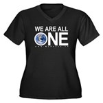 Women's We Are All One Plus Siize Dark V T-Shirt