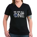 Women's We Are All One V-Neck Dark T-Shirt
