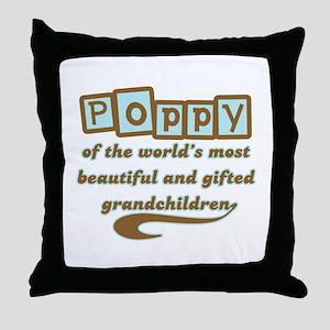 Poppy of Gifted Grandchildren Throw Pillow