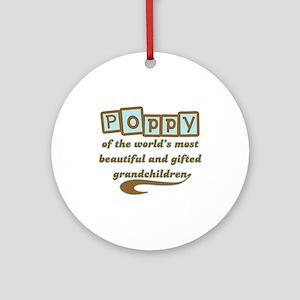 Poppy of Gifted Grandchildren Ornament (Round)