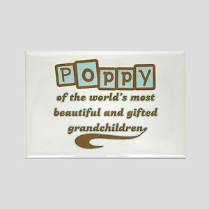 Poppy of Gifted Grandchildren Rectangle Magnet