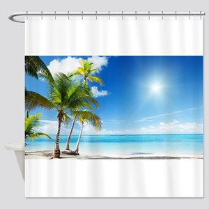 Paradise Corner Shower Curtain