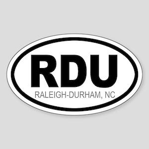'Raleigh-Durham' Oval Sticker