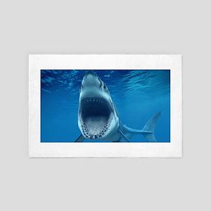 Big White Shark Jaws 4' x 6' Rug