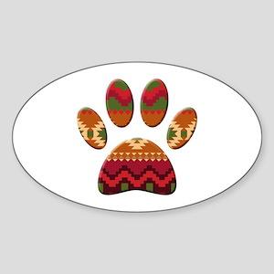 Aztec Pattern Dog Paw Print Sticker