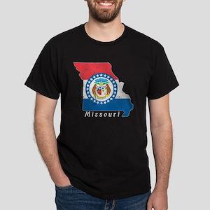 Missouri State Flag Patriotic State Shaped T-Shirt