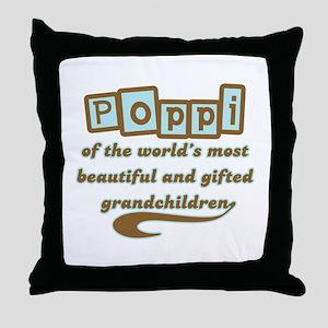 Poppi of Gifted Grandchildren Throw Pillow