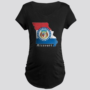 Missouri State Flag Patriotic St Maternity T-Shirt