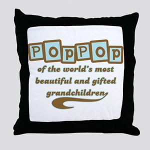 PopPop of Gifted Grandchildren Throw Pillow