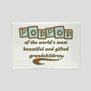 PopPop of Gifted Grandchildren Rectangle Magnet