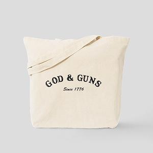 God and Guns Tote Bag