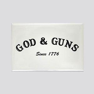 God and Guns Rectangle Magnet
