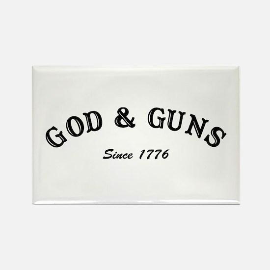 God and Guns Rectangle Magnet