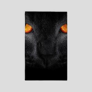 Black Cat Area Rug
