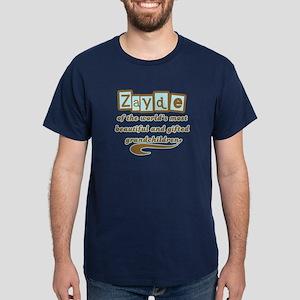 Zayde of Gifted Grandchildren Dark T-Shirt