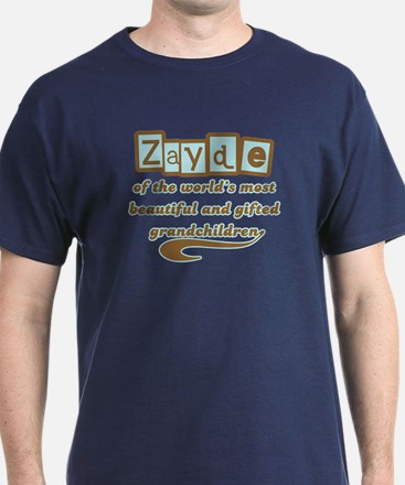 Zayde of Gifted Grandchildren T-Shirt