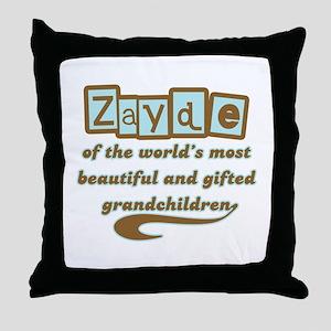 Zayde of Gifted Grandchildren Throw Pillow