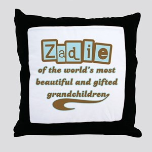 Zadie of Gifted Grandchildren Throw Pillow