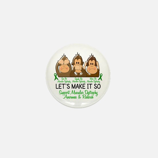 See Speak Hear No Muscular Dystrophy 2 Mini Button