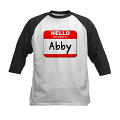 Hello my name is Abby Kids Baseball Jersey