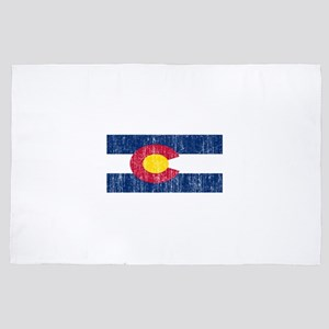 Vintage Colorado flag 4' x 6' Rug