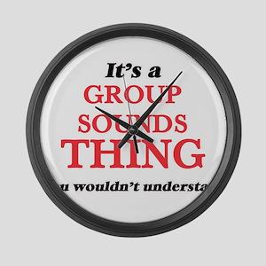 It's a Group Sounds thing, yo Large Wall Clock