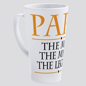 Papa Man Myth Legend 17 oz Latte Mug