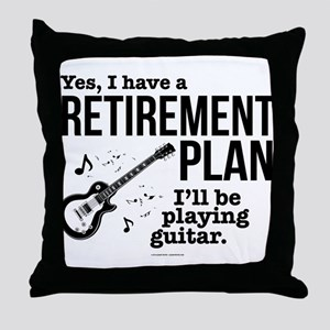 Guitar Retirement Plan Throw Pillow