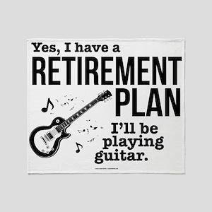 Guitar Retirement Plan Throw Blanket