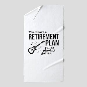 Guitar Retirement Plan Beach Towel
