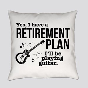 Guitar Retirement Plan Everyday Pillow